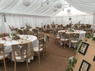 6m by 12m wedding traditional marquee Oxford Tent Company
