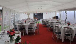 Clear Span wedding marquee Oxford Tent Company