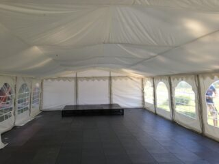 garden party clear span lining Oxford Tent Company