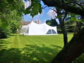 28ft by 38ft Marquee garden party Oxford Tent Company