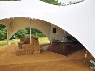 marquee party with dance floor Oxford Tent Company