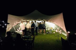 20ft by 20ft Marquee Party night. Oxford Tent Company