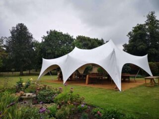 2838 80 guests garden party Oxford Tent Company